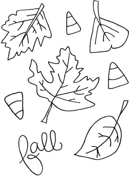 442x600 Printable Fall Coloring Pages Kids Colouring, Fall Leaves