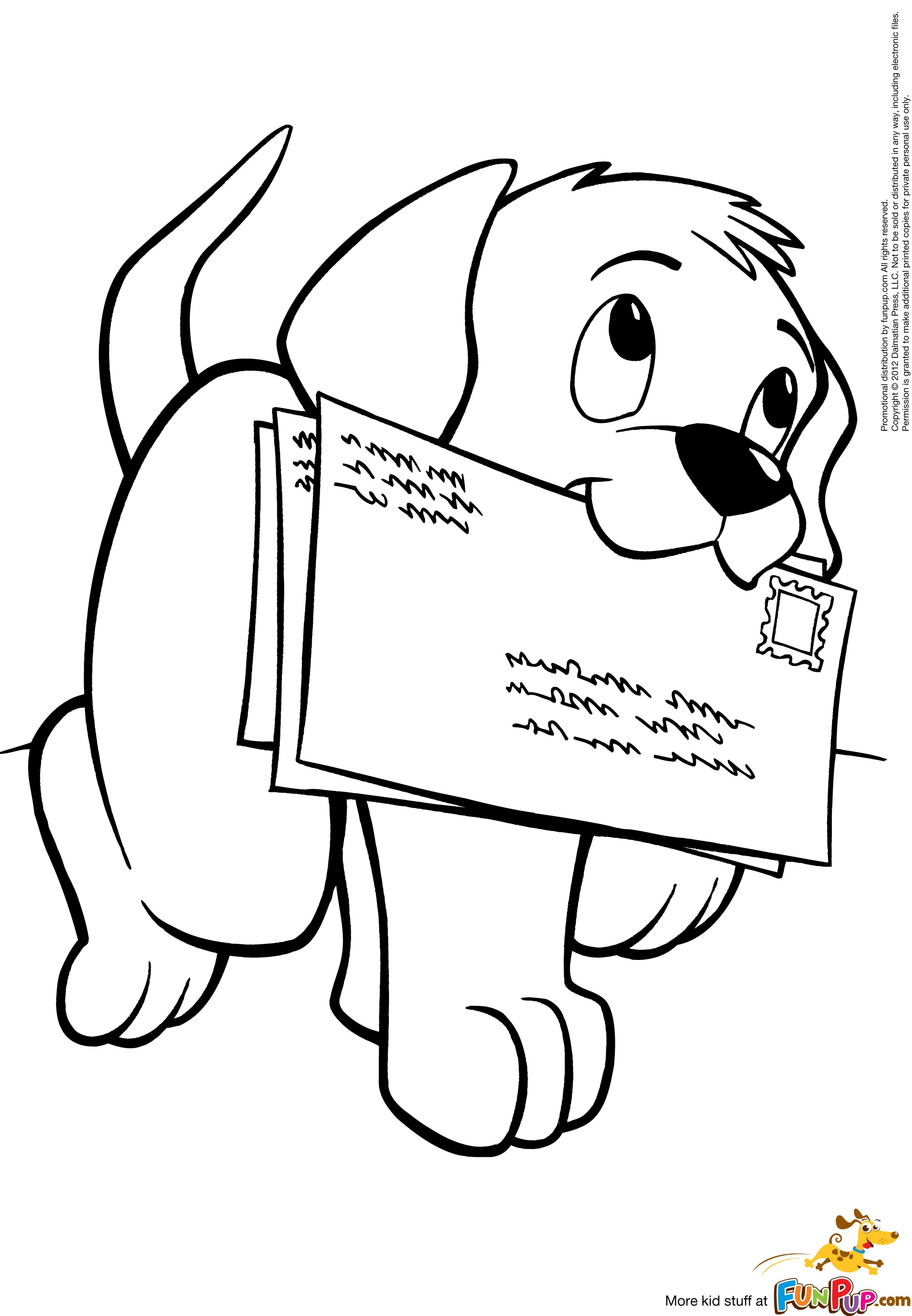 cute cartoon dog coloring pages - photo#37