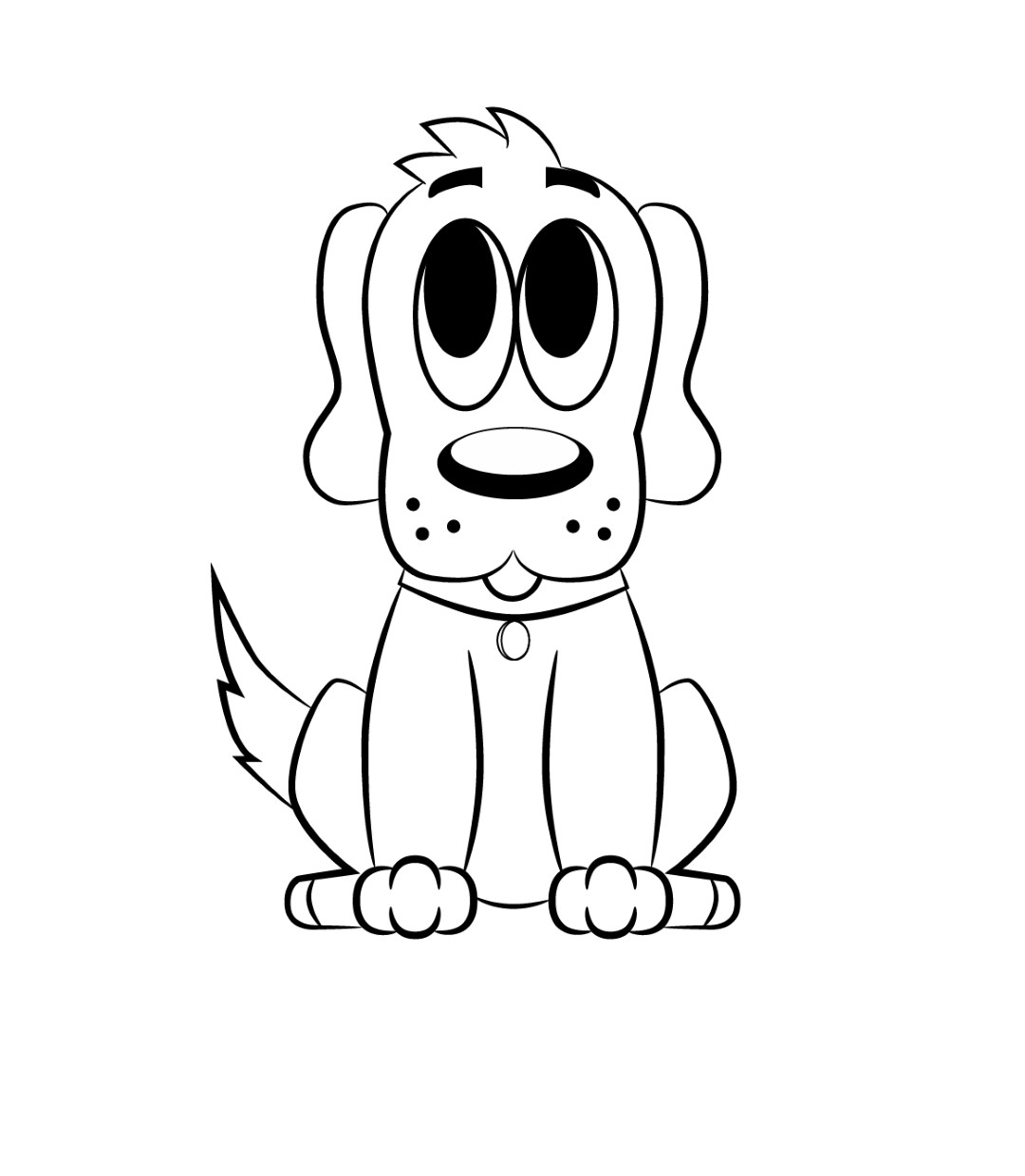 1080x1239 How To Draw A Cartoon Dog And Tutorials