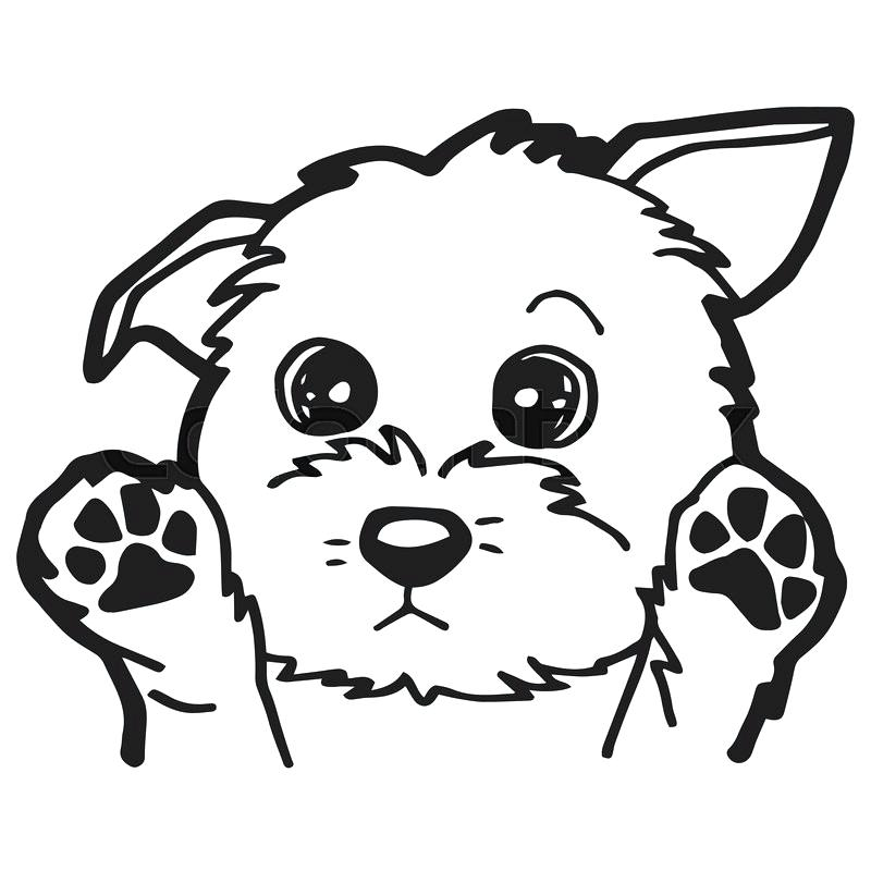 cute cartoon dog coloring pages - photo#2