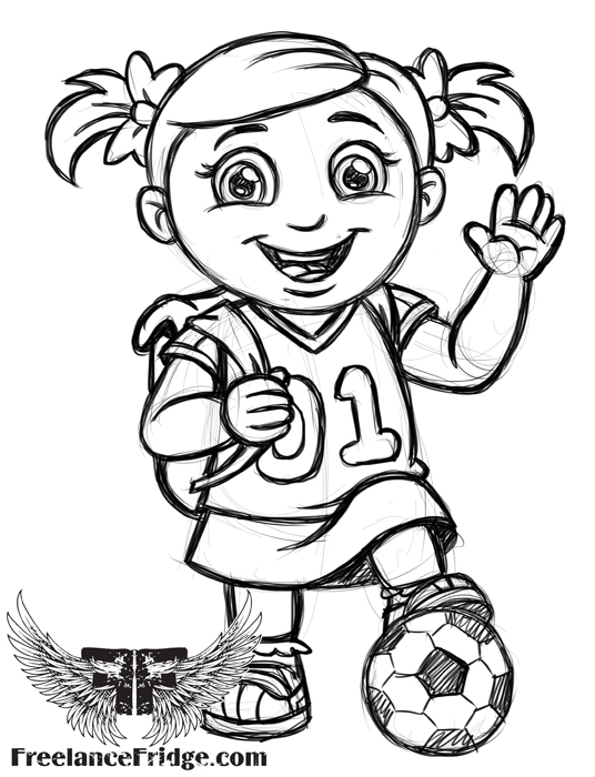 536x700 Cute Cartoon Girl Freelance Fridge Illustration Amp Character Design