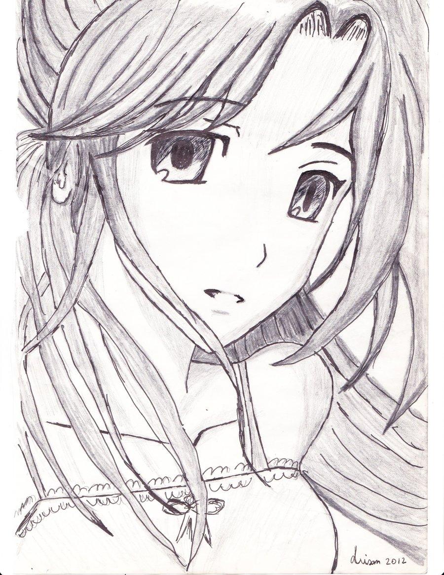900x1165 Anime Pic Girl Pencil Art Cute Cute Anime Sketches In Pencil Cute