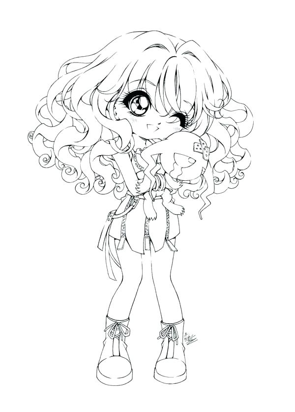 600x836 Good Anime People Coloring Pages Kids Cartoon Girl Girls Cute