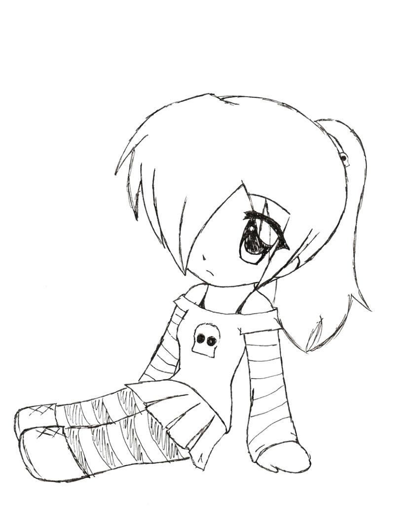 829x1024 Coloring Page ~ Cute Anime Coloring Pages Well Food Girl Colouring
