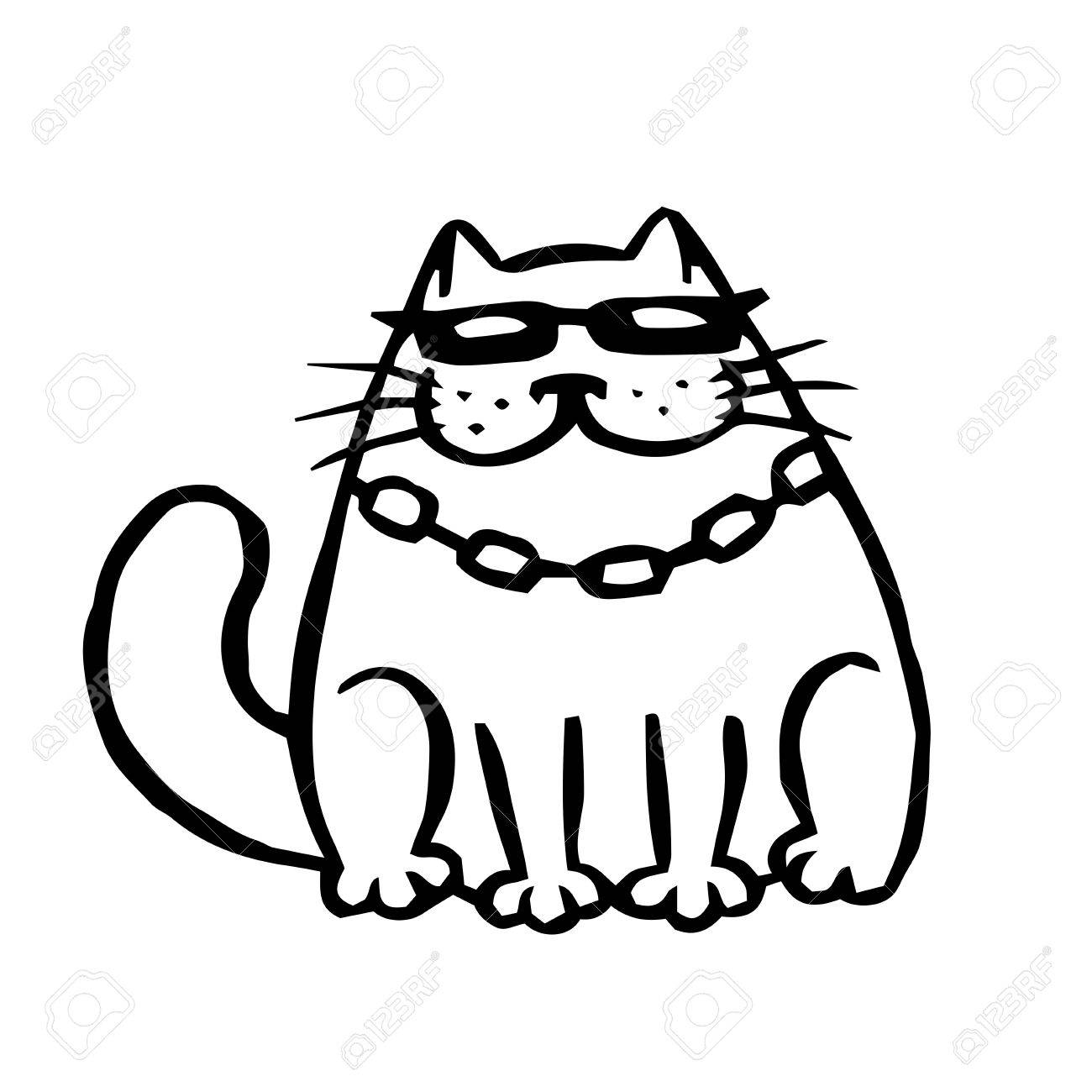 Cute Cat Cartoon Drawing