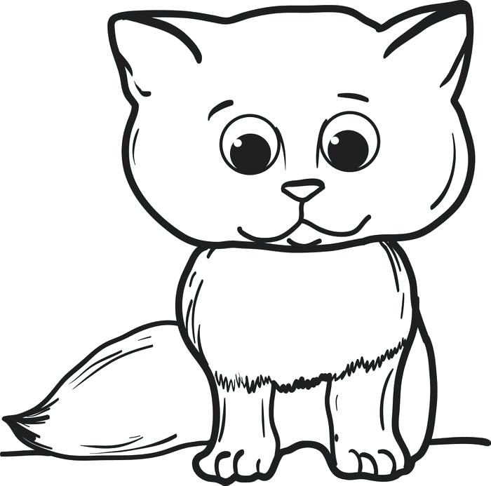 700x693 Best Of Cat Coloring Page Pictures Cute Cat Coloring Pages Item