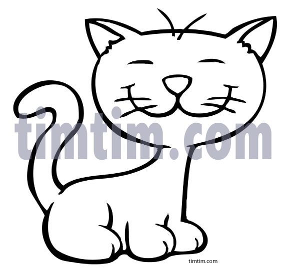 572x541 cute cat drawings free drawing of cat 1bw from hand embroidery