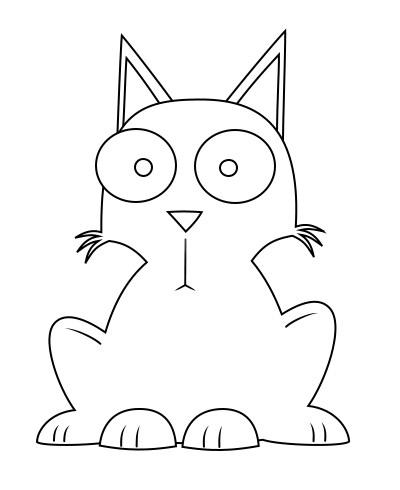 400x490 Drawing A Cat Cartoon