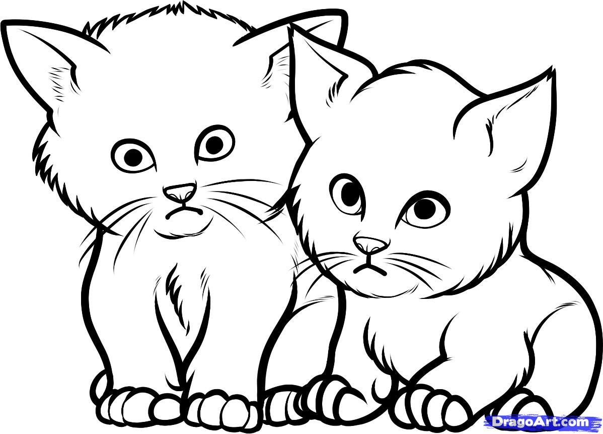 1198x861 Drawn Kitten Baby Cat