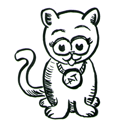 411x411 How To Draw Cartoon Kittens Cats With Step By Step Drawing