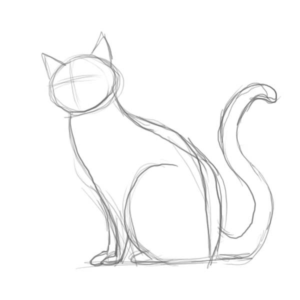 600x600 Drawn Feline Simple