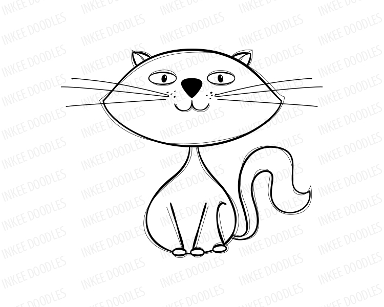 750x600 Drawn Feline Cute Kitty