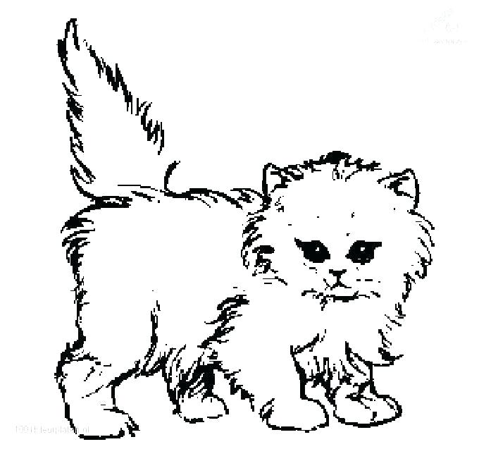 680x637 Cat And Kitten Coloring Pages For Surprising Baby Kitten Coloring
