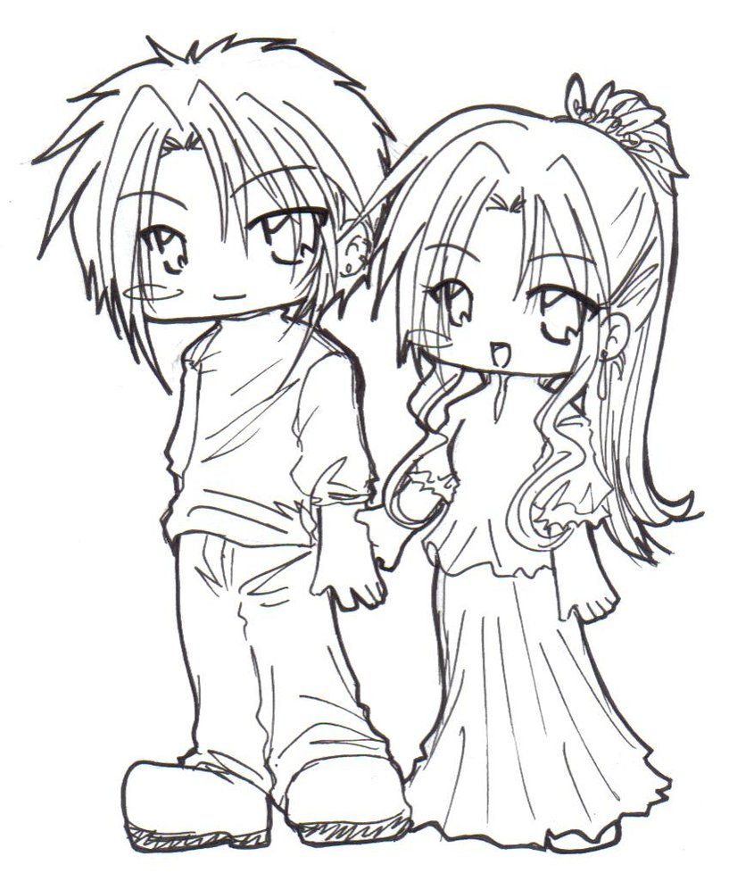 Cute Chibi Couple Drawing At Getdrawingscom Free For