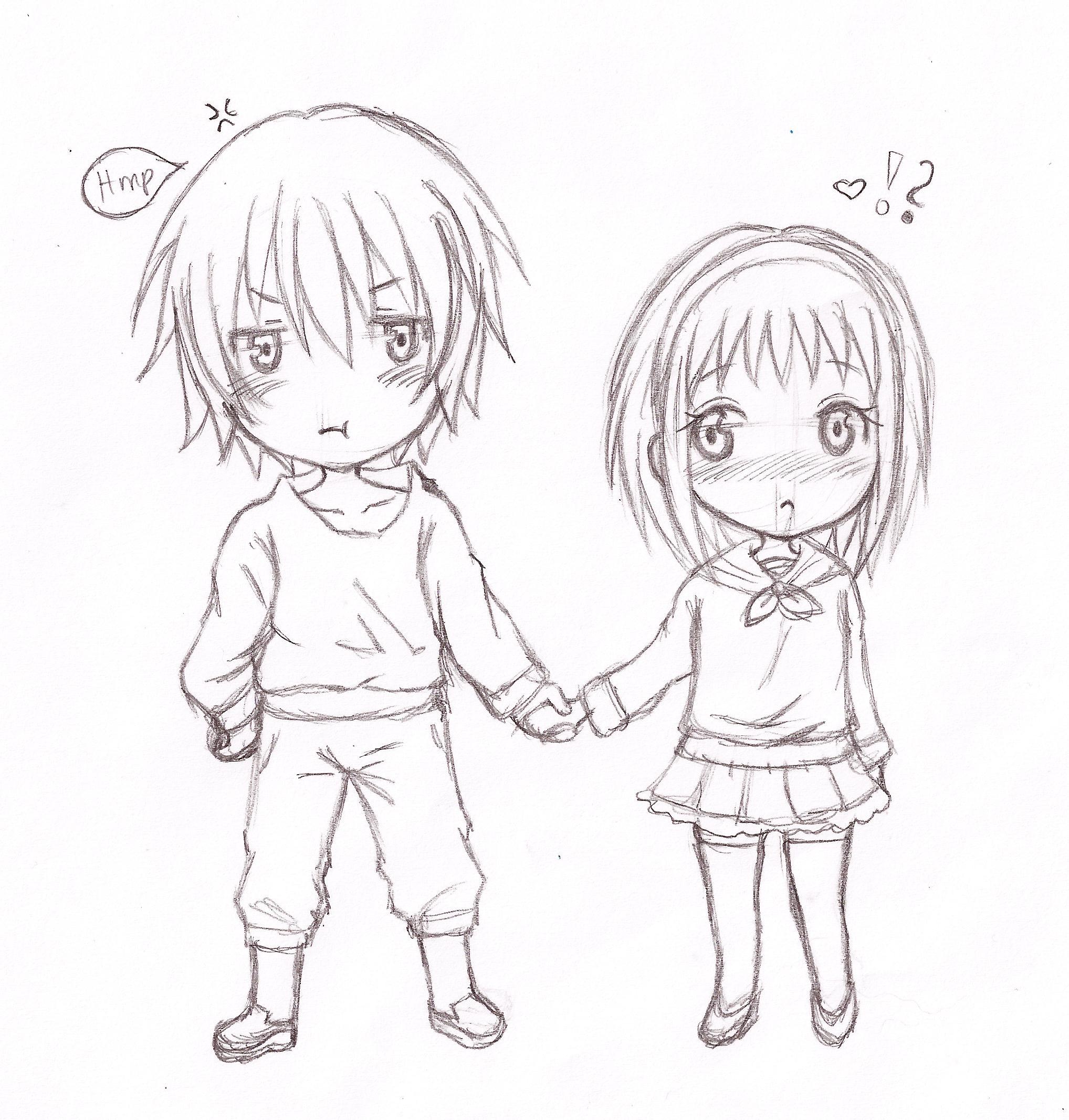 2036x2134 Anime Chibi Drawing Anime Chibi Couple Drawing