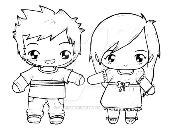600x455 Chibi Couples By Chibimeichii