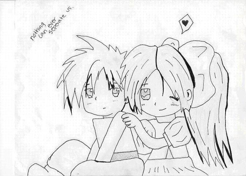 792x567 Cute Chibi Couple By Kazinori