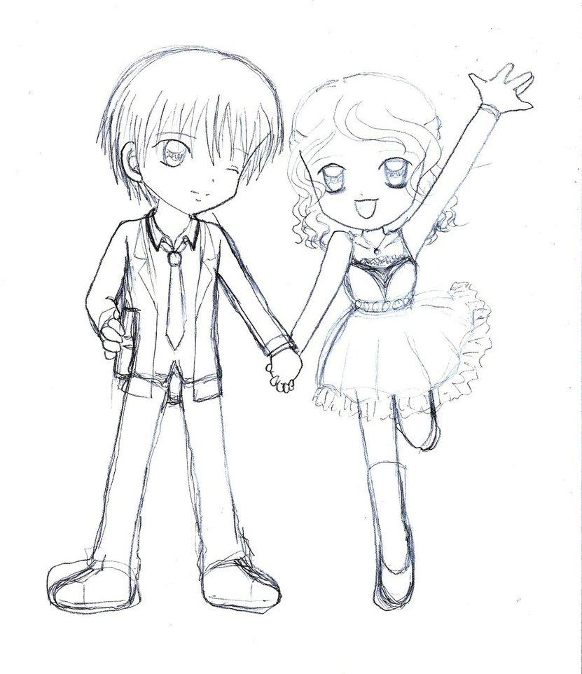 831x962 Anime Chibi Drawings Chibi Couple (Date)armogirl5
