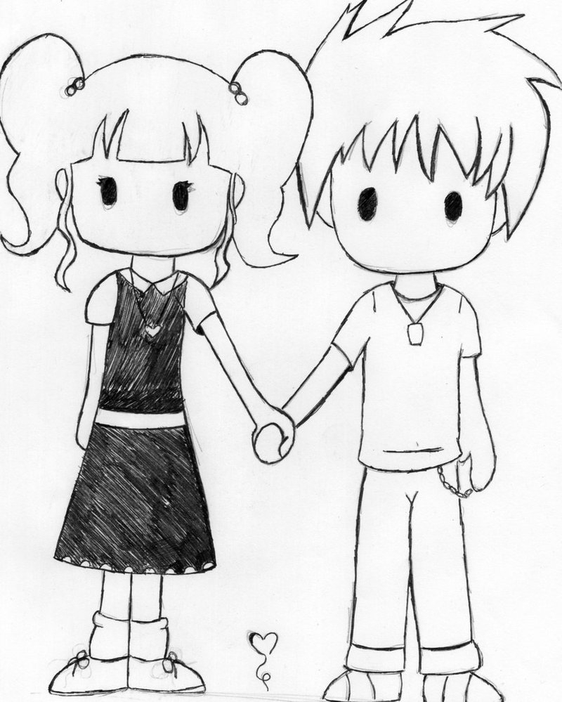 800x999 Cute Chibi Couple Drawing Cute Chibi Couple By Deathdealer458