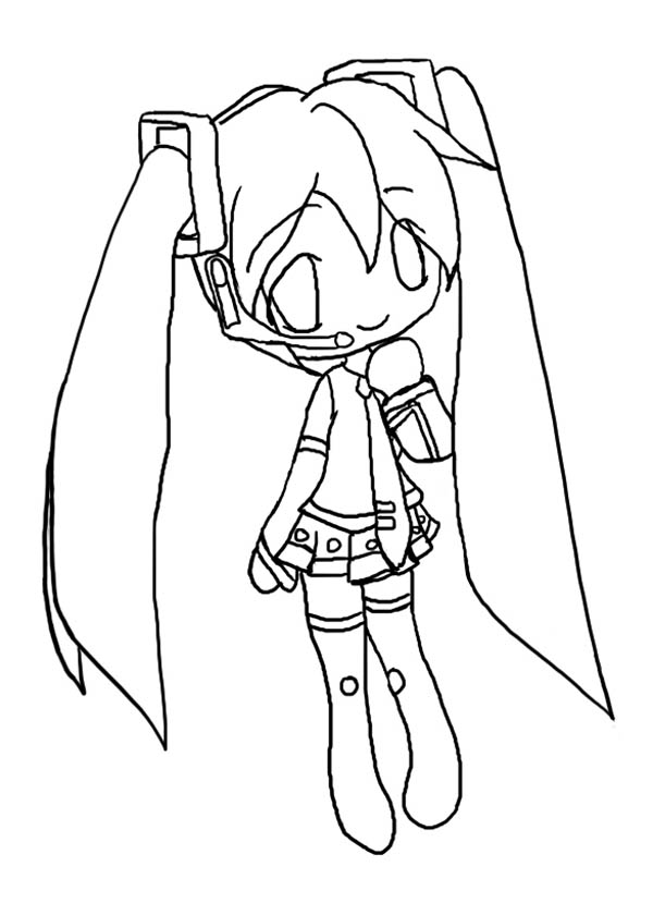 600x829 Cute Hatsune Miku Chibi Drawing Coloring Page