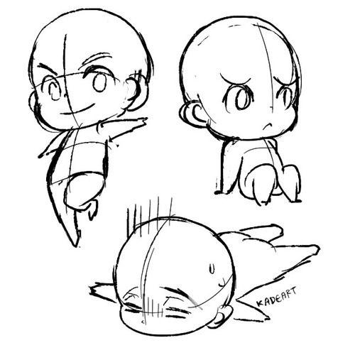 500x500 How To Draw Chibi Bodies