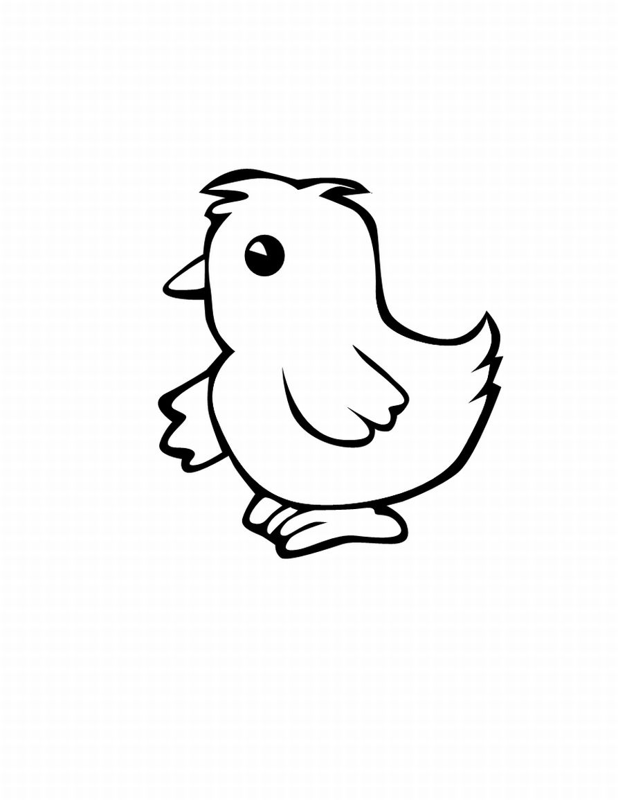 893x1155 baby chick coloring pages - Chick Coloring Page 2