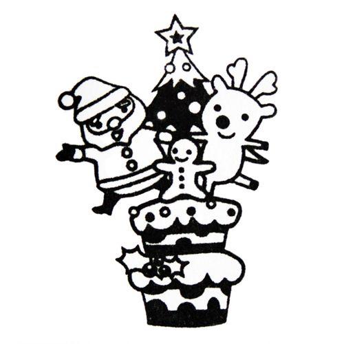 500x500 Cute Christmas Stamp Santa Claus Christmas Tree Self Made Stamp