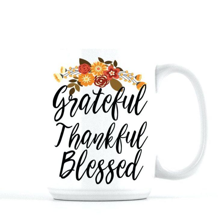 728x728 Multi Colored Coffee Mug Grateful Thankful Blessed Fall Mug Cute