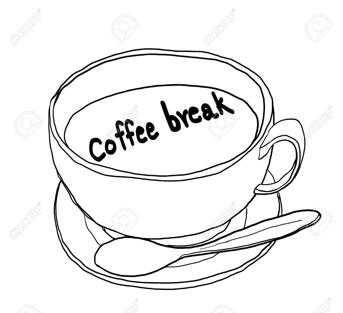1300x1186 Coffee Break Coffee Time Coffee Cup Coffee Art Cute Lineart