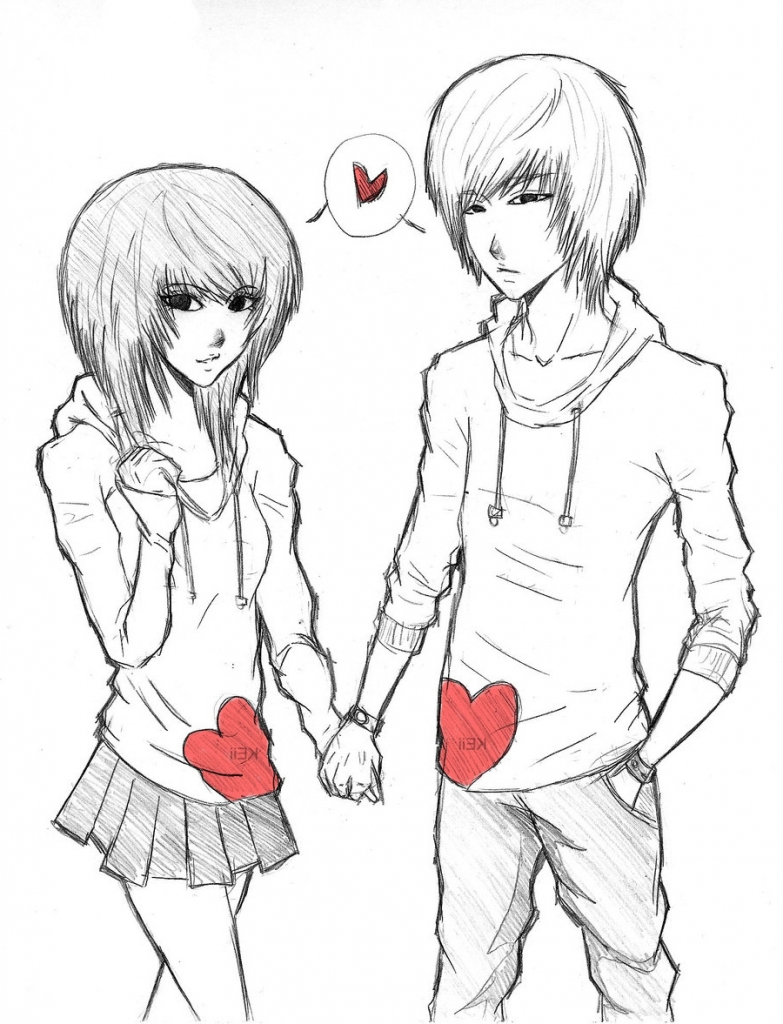 783x1024 Cute Anime Couple Drawing Anime Couples Drawing Drawing Artisan