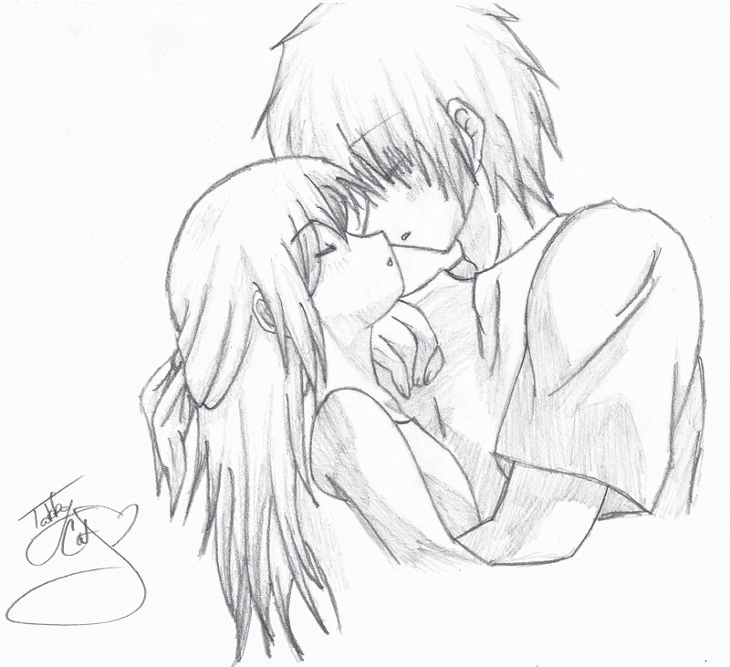 800x731 pictures anime cute couple pencil sketch