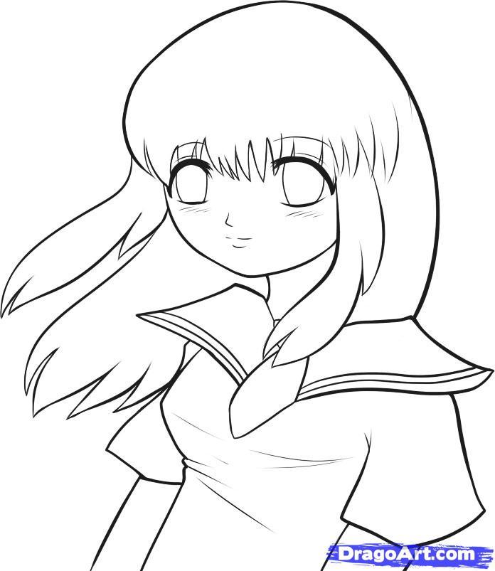 696x803 Cute Anime Couple Pencil Sketch