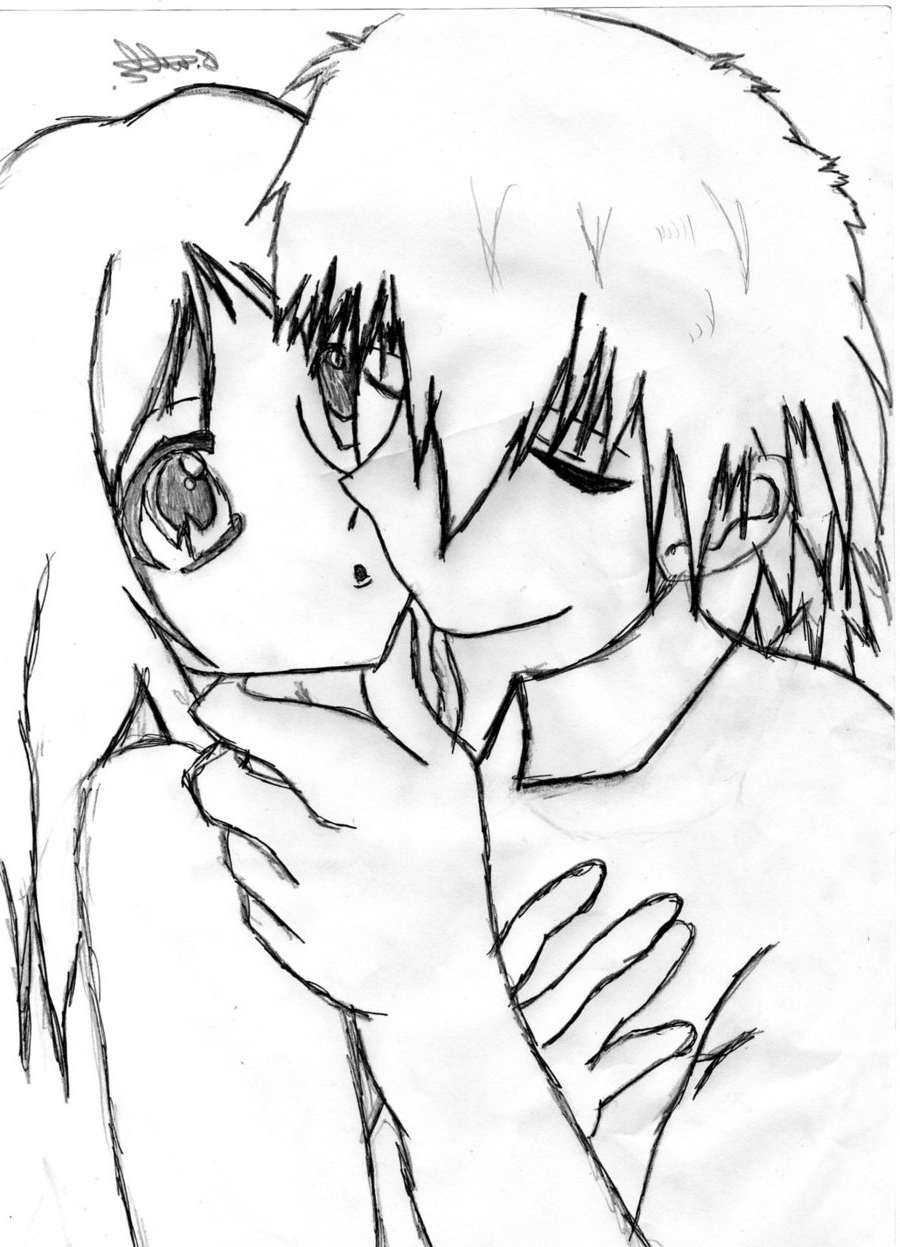 900x1247 Cute Anime Couples In Love Drawing Anime Cute Couple Pencil Sketch
