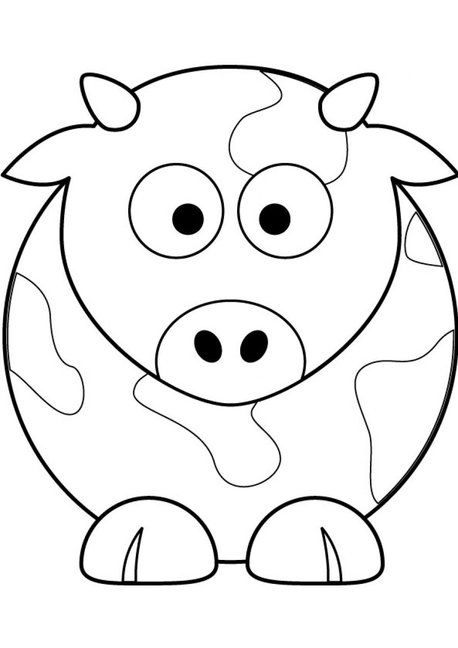 Cute Cow Drawing at GetDrawings.com | Free for personal use Cute Cow ...
