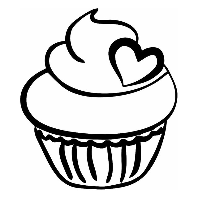 640x640 13.215.2CM Cute Cupcake Loving Car Sticker Cartoon Motorcycle