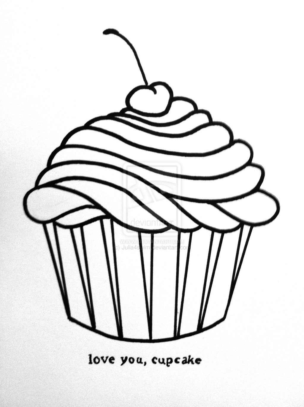 1024x1371 Cupcake Cartoon Drawing How To Draw A Rainbow Cupcake Cute + Easy