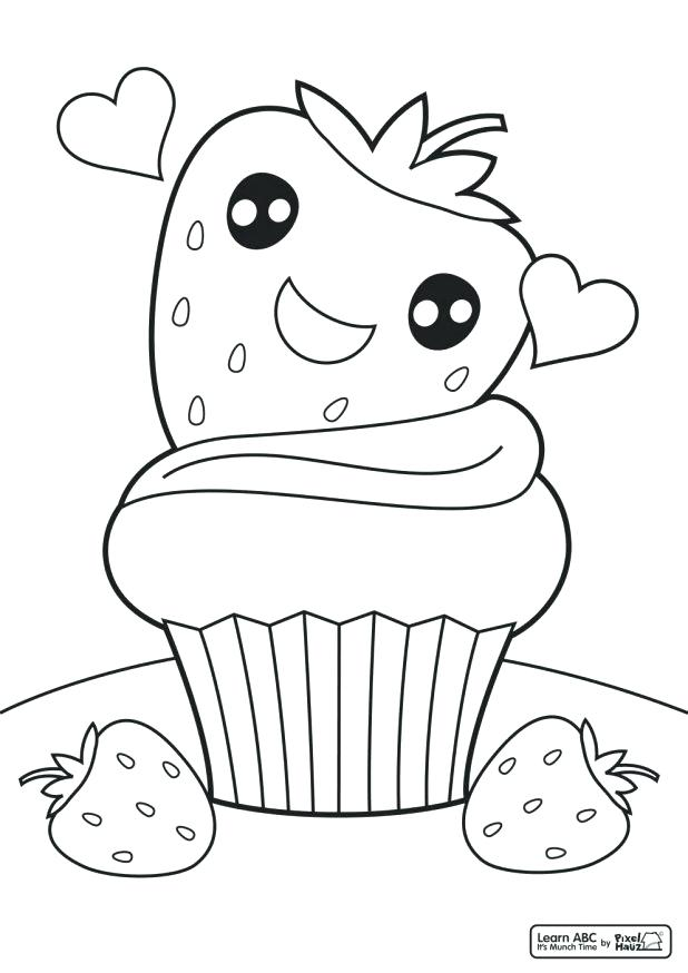 618x874 Cupcake Coloring Pages Online Cute Cupcake Coloring Pages Home