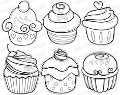 236x188 Cupcake black and white cupcake drawings and cupcakes clipart
