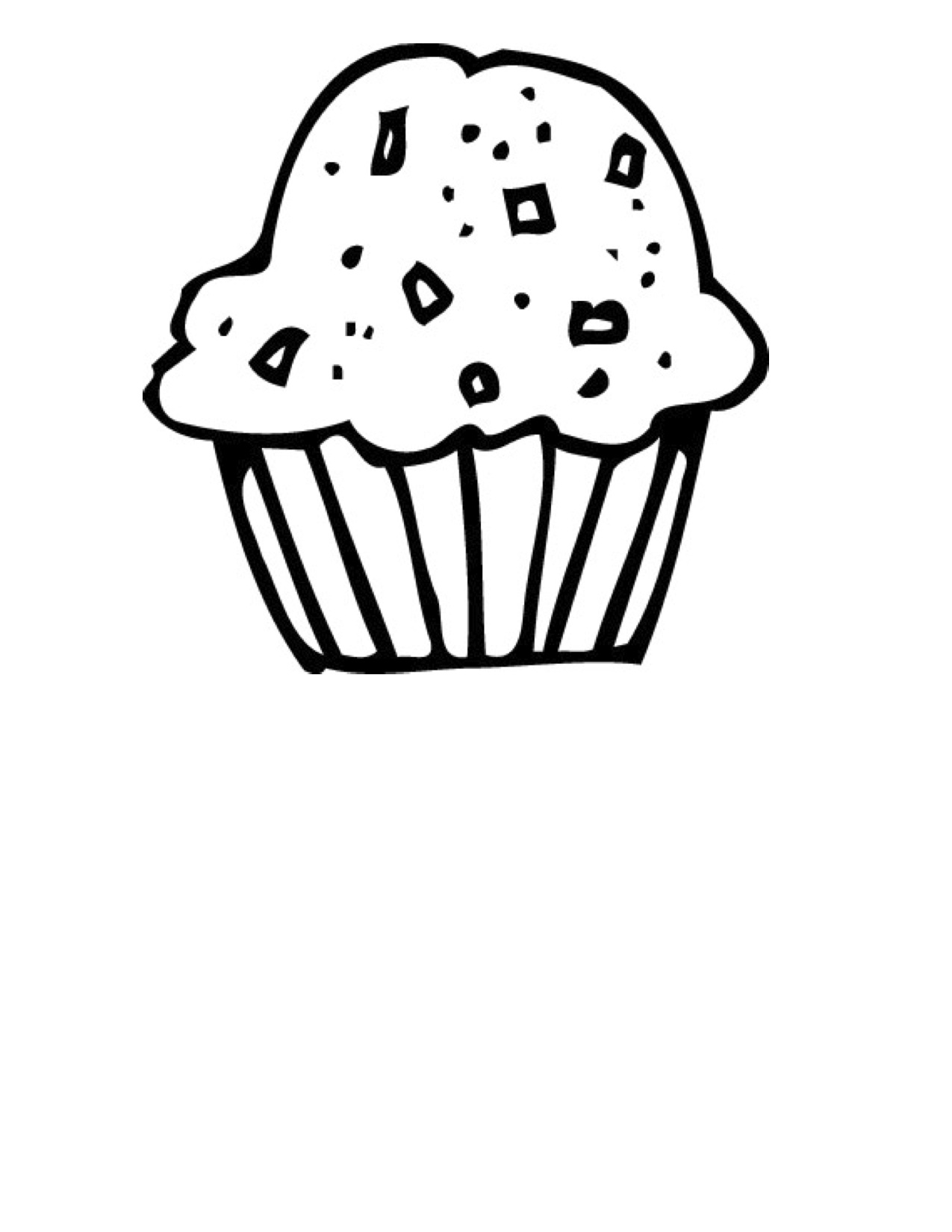 1275x1650 Cupcake black and white cute cupcake black and white clipart 2