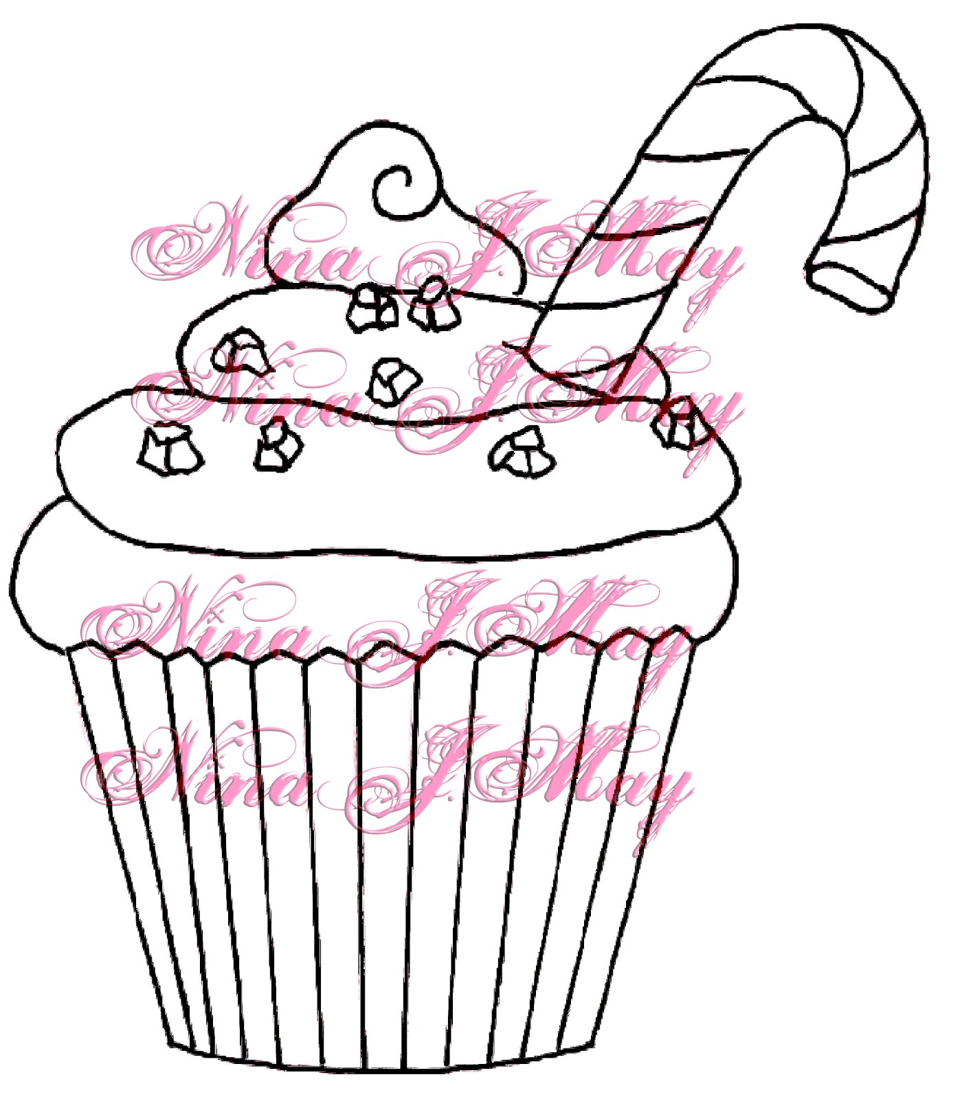 1400x1600 Cupcakes Drawings