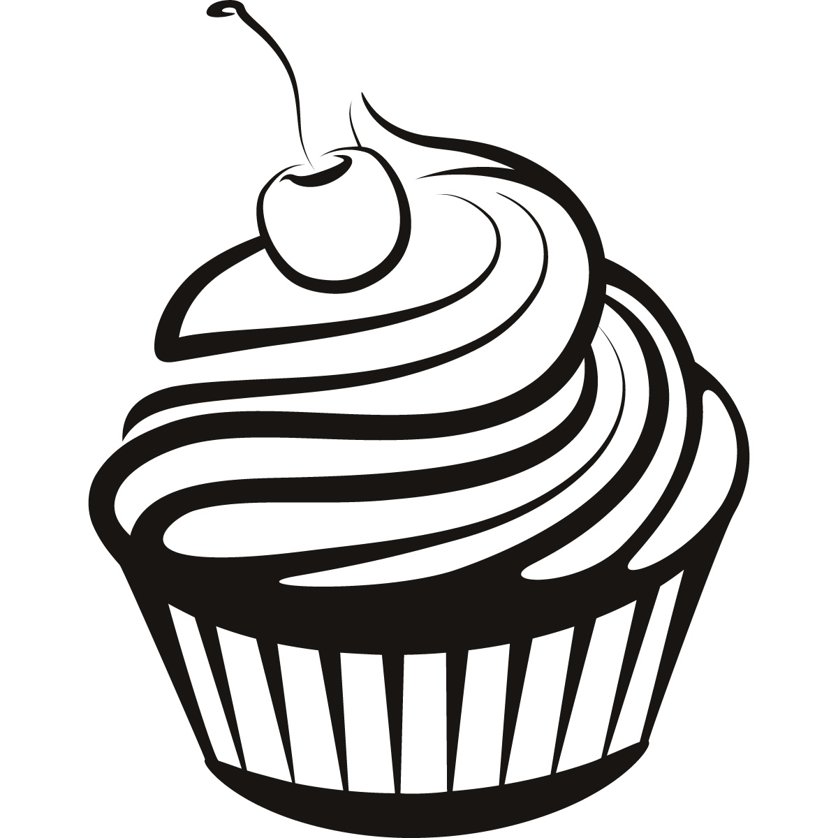 1200x1200 A Drawing Of A Cupcake Simple Cupcake Drawings Cupcake Cherry On