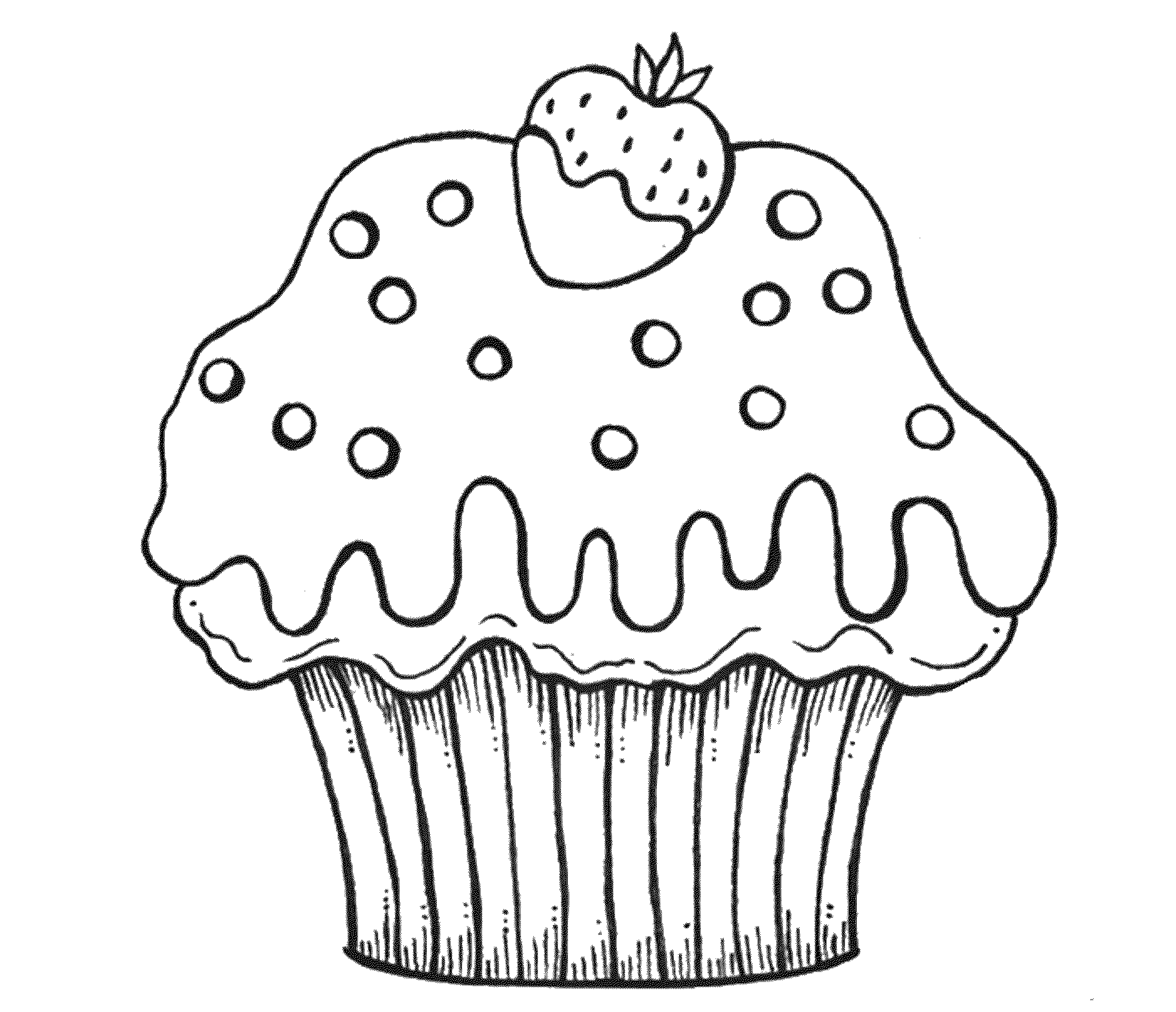 2000x1720 Cute Cupcake Coloring Sheets – Color Bros