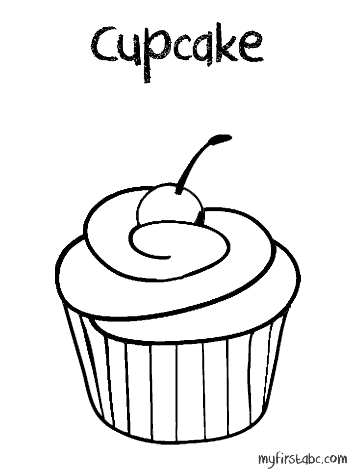 718x958 Cute Cupcakes Coloring Pages