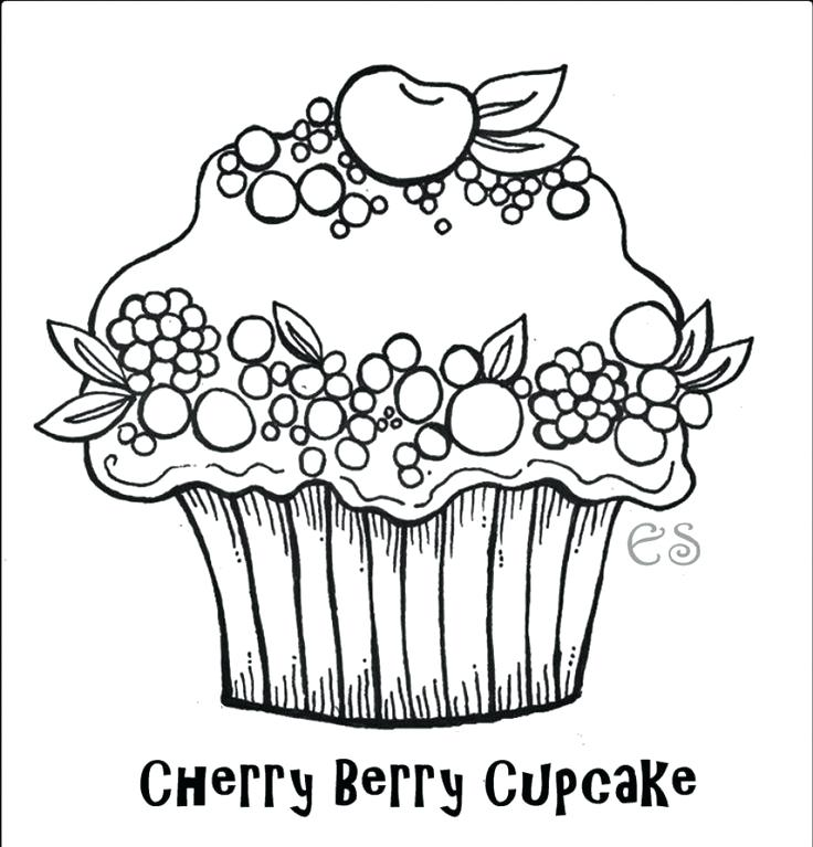 736x767 Pictures Of Cupcakes To Color Bakery Coloring Pages Cake Coloring