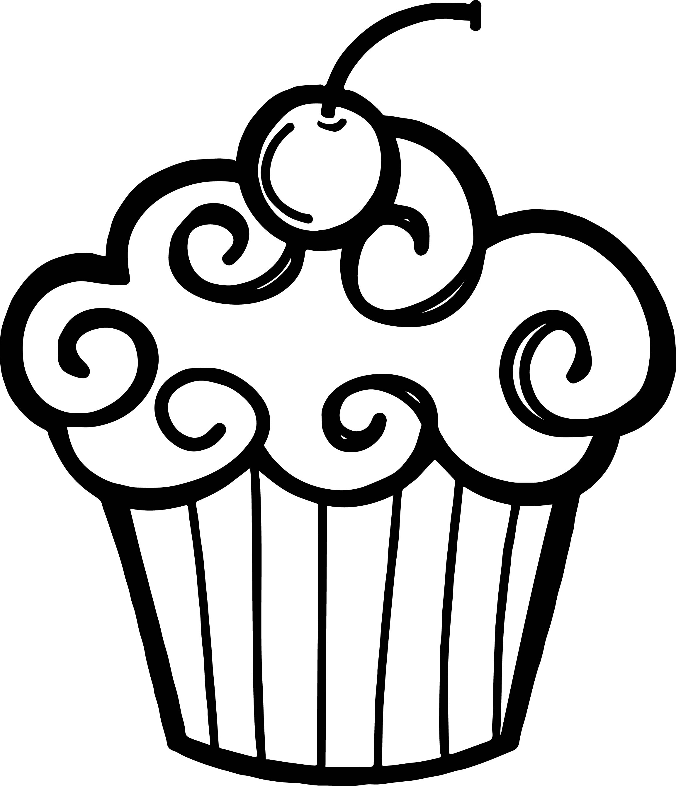 2306x2681 Black And White Cupcake Drawing Cupcake Clipart Black And White