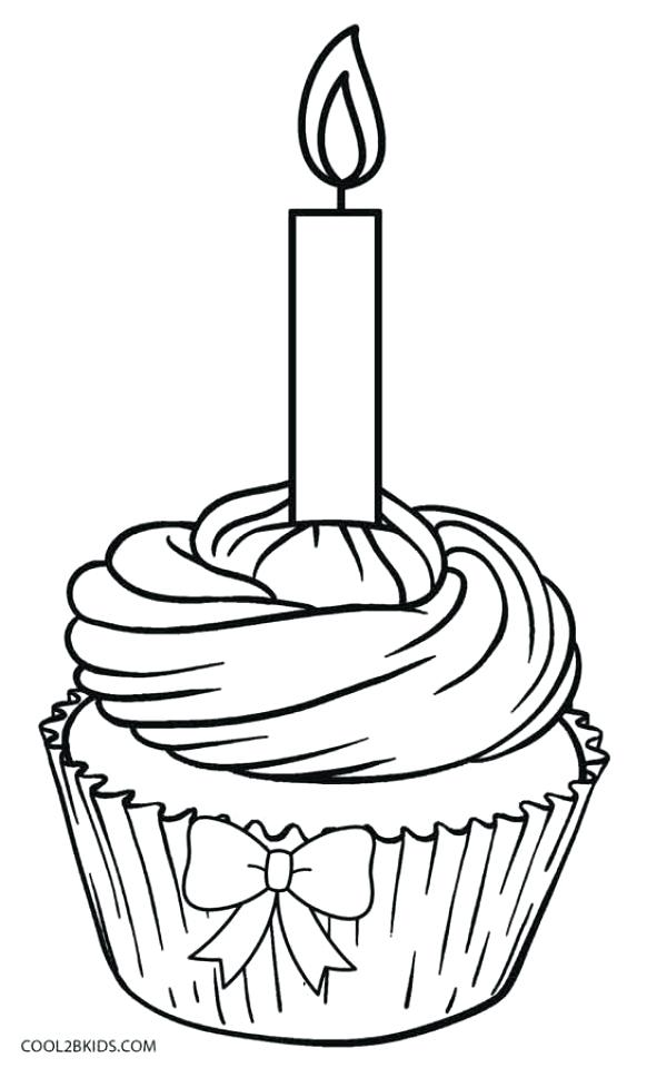 582x960 Top Rated Cupcake Coloring Page Images Birthday Cupcake Coloring