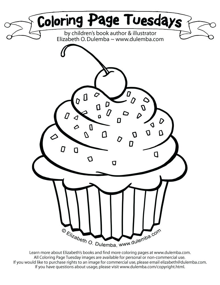 773x1000 Coloring Pages Of Cupcakes Packed With Fantastic Ice Cream