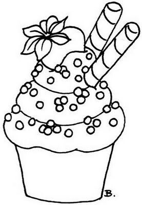 Cute Cupcakes Drawing