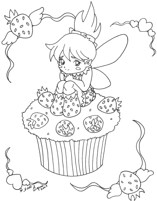600x768 Cupcake Coloring Pages