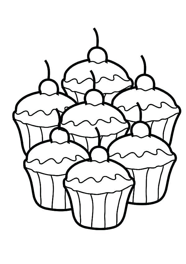 600x849 Cupcake Images To Color Cute Cupcake Coloring Page Images Of